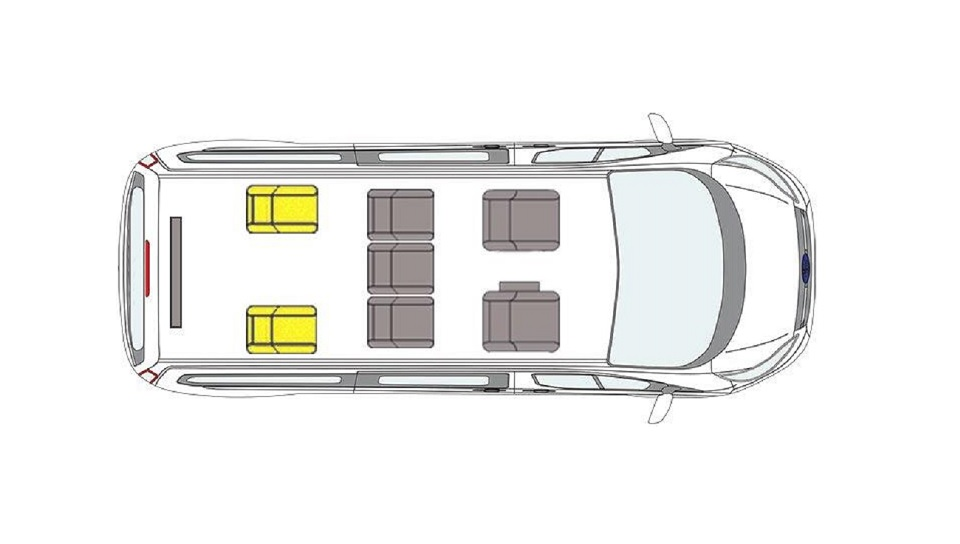 Ford Grand Tourneo Connect WAV Seating Layout