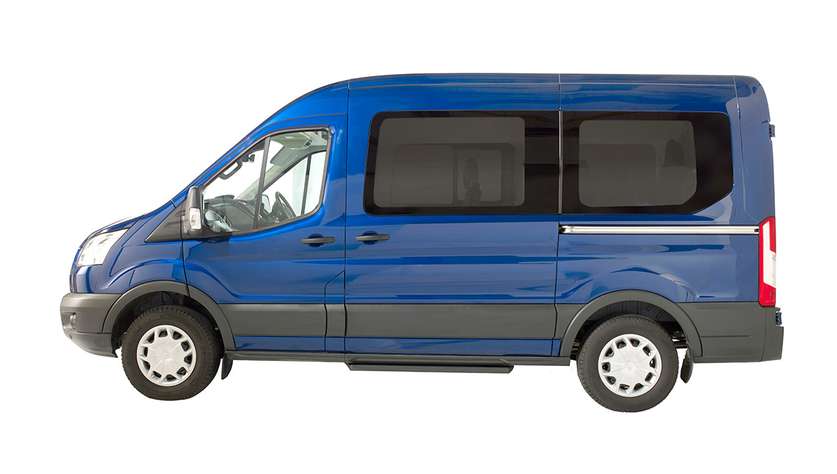 Ford Transit Minibus Trend side view