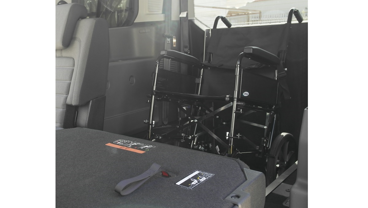 Interior of the Ford Grand Tourneo Connect WAV