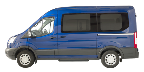 Side view of the Ford Transit Minibus WAV
