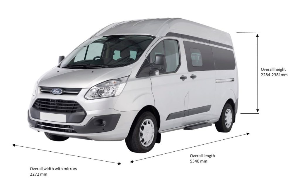 Dimensions of the Ford Transit Custom