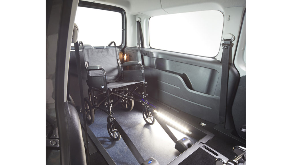 VW Caddy WAV with wheelchair